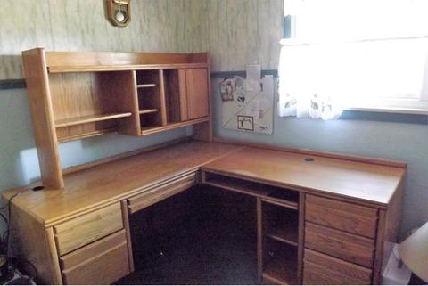 Large Oak Computer Desk