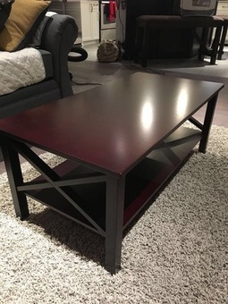 NEW Set of 3 - Coffee table + 2 end tables- Merlot Finish - $350